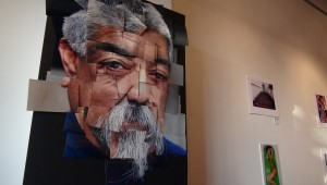 """Downey high school student displays photography piece called """"Uncle."""" Photo by: Alicia Edquist"""